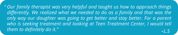 Parent Testimonials | Teen Treatment Center